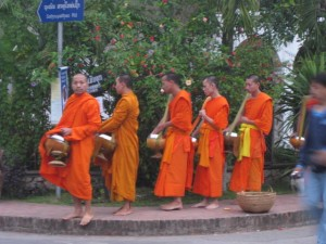 morning monk procession, Luang Prabang