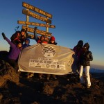 Ladies Trekking Takes Flag to the Roof of Africa
