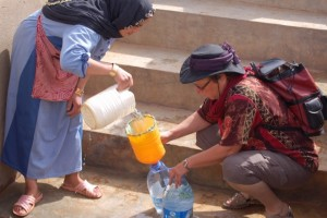 Morocco helping at the well