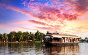 House boat in Kerala backwaters