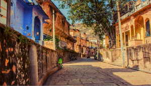 Stepping back in time…the cobbled streets of Samode village