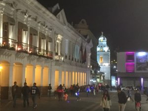 Independence Square, Quito by night - Quito or Guayaquil