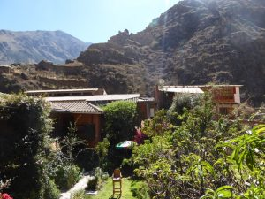 the view from our room in Ollantaytambo