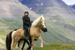 Women learn to ride Horse Riding Iceland
