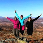 Women adventure travel Sweden
