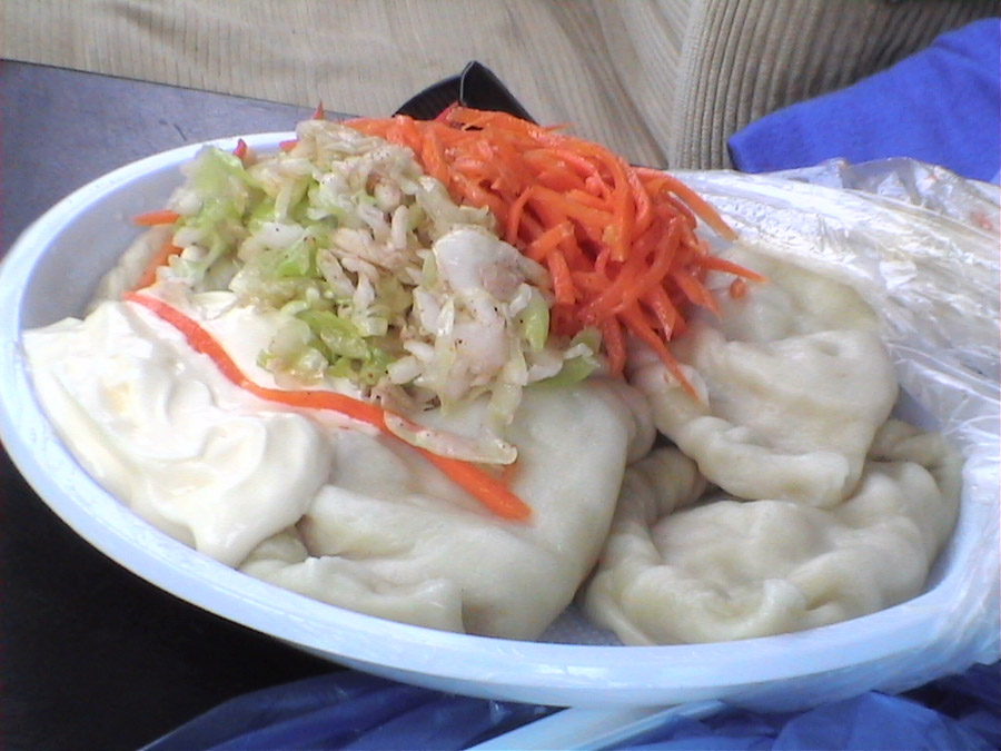 Dumplings in Mongolia
